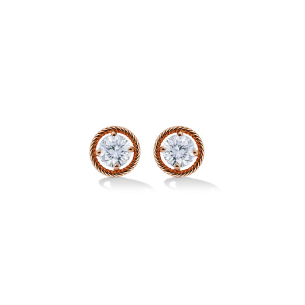 SGR304- Salasil Gafla Earrings, Round, Rose Gold, LM- 29,900 Aed
