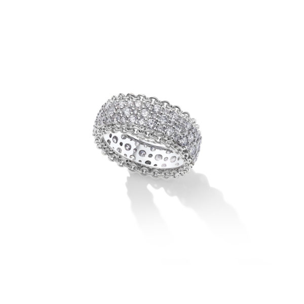 SGW206- Salasil Gafla 3 Row Diamond Ring White Gold – 900 x 900px